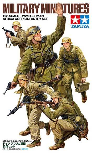 Tamiya 1 35 Wwii German Africa Corps Infantry Set At