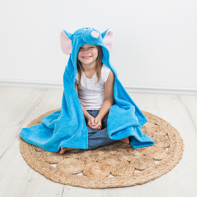 Bambury iSpy Hooded Throw (Elephant)