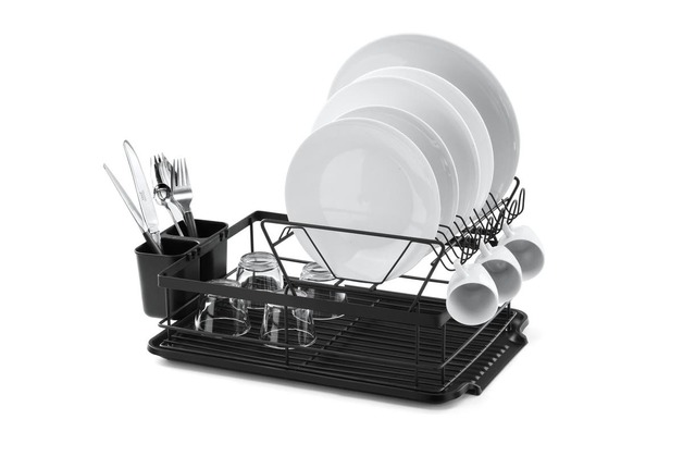 Ovela: 2 Tier Dish Drainer Rack With Cutlery Holder