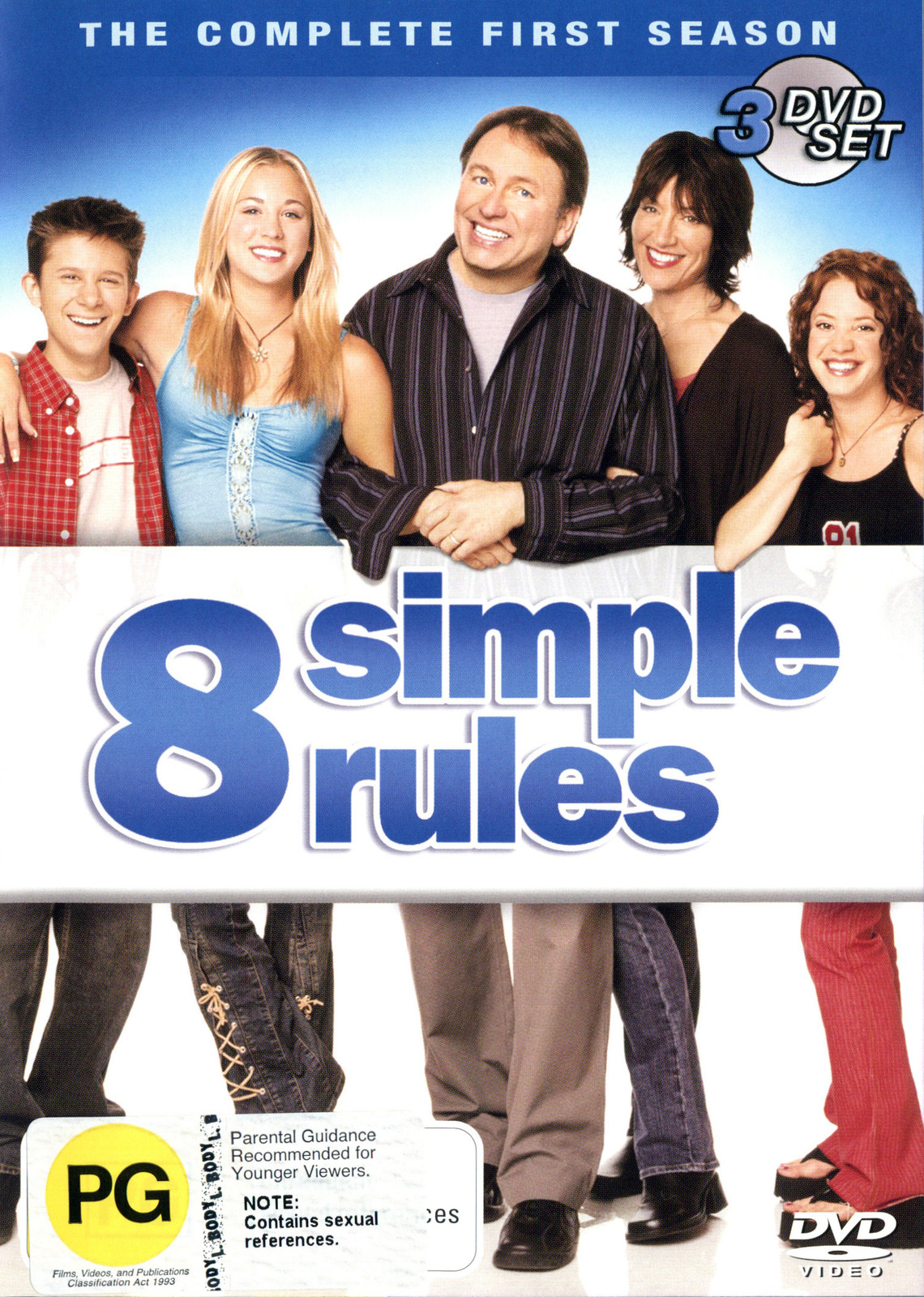 8 Simple Rules - Complete Season 1 (3 Disc Set) DVD image