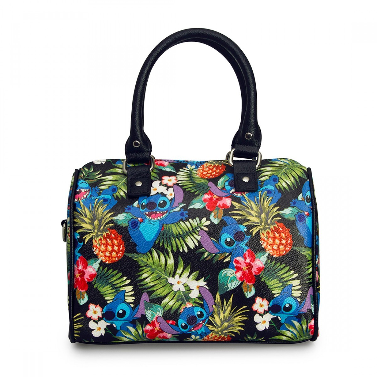 5cc09f044ee ... Loungefly Disney Stitch Hawaiian Print Hand Bag image ...