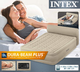 Intex: Queen Ultra - Plush Headboard Airbed (With 220-240v Built-in Pump)