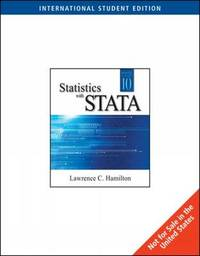 Statistics with Stata by Lawrence C Hamilton image