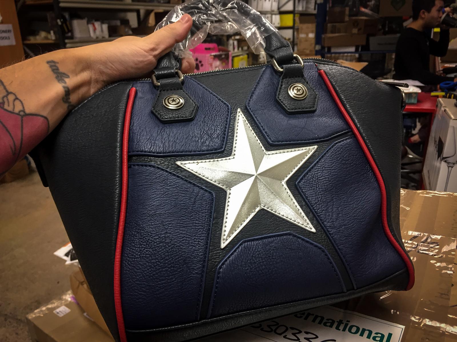 ... Loungefly  Marvel Captain America - Star Duffle Bag image ... c184f46ca37fb