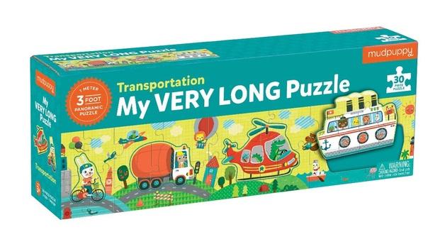 Mudpuppy: My Very Long Puzzle - Transportation