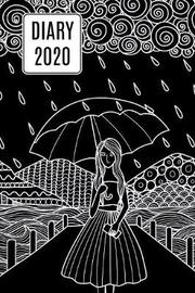 2020 Daily Diary Journal, Girl & Umbrella by Paper Pony Planners image