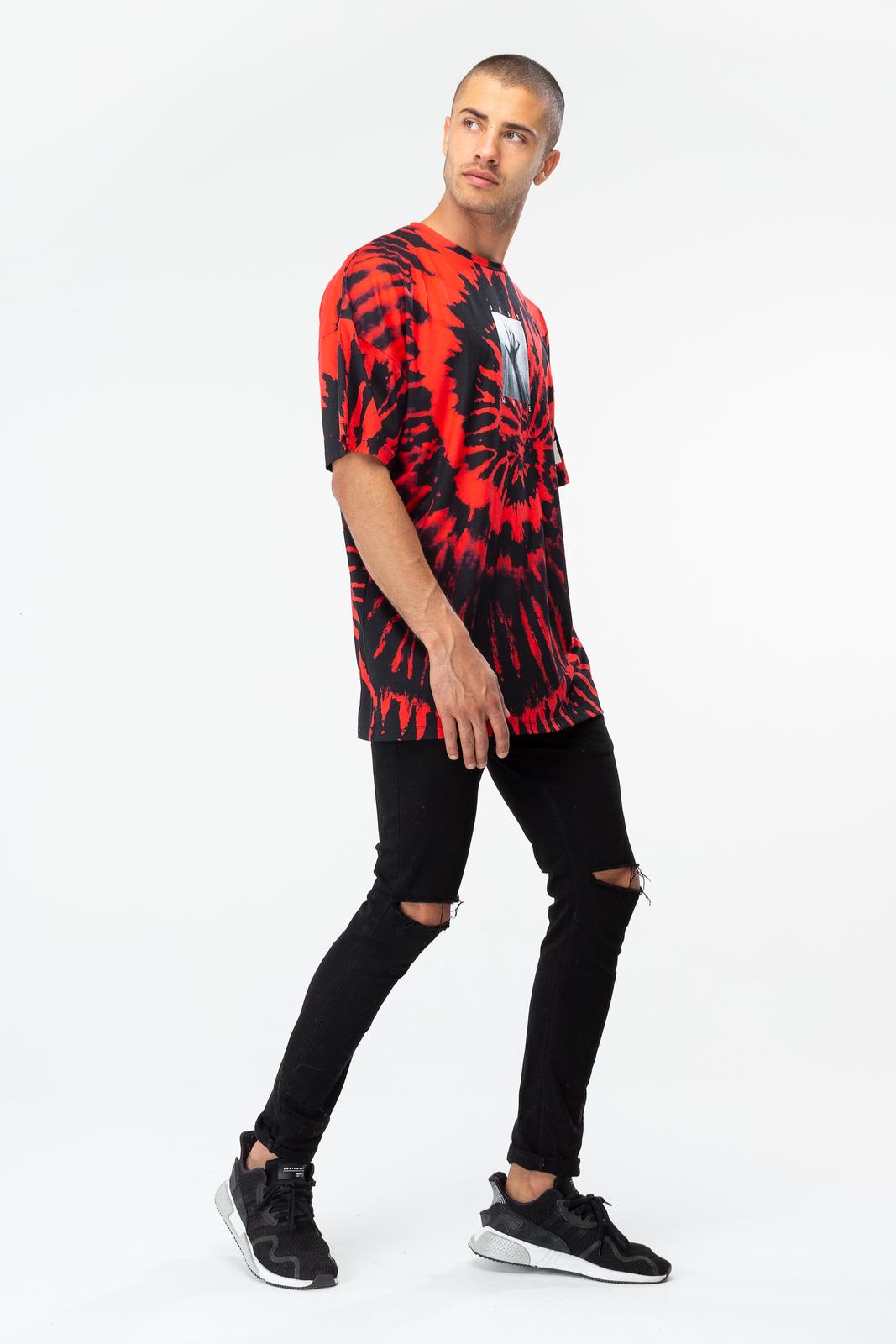 Just Hype: Men's Oversized T-Shirt- Psycho Tie Dye XL image