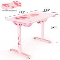 Eureka I44 Ergonomic Gaming Desk (Pink) for