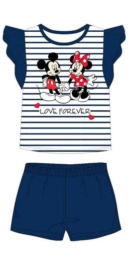 Disney - Minnie Mouse Kids Outfit - Navy (Size: 4)