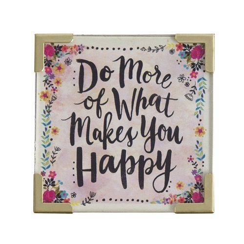 Natural Life: Corner Magnet - Do More What Makes Happy