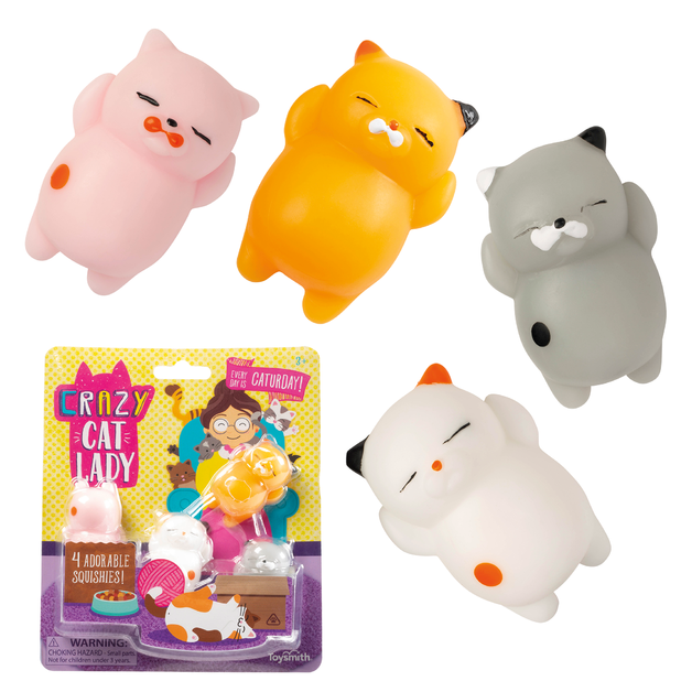 Toysmith: Crazy Cat Lady - Squishy Kitties (Set of 4)