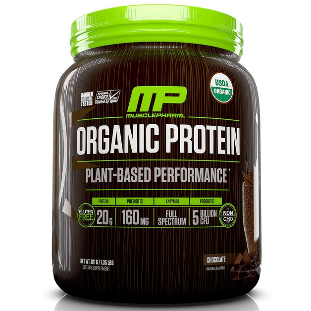 MusclePharm Plant Based Organic Protein - Chocolate (567g)