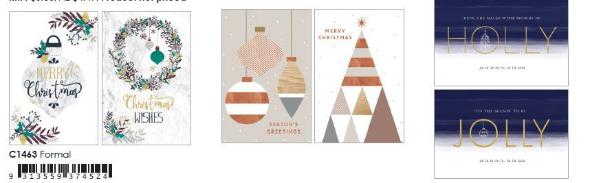 Boxed Christmas Cards - Formal Pack of 10 image