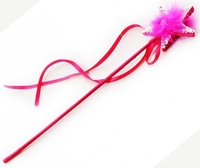 Fairy Girls - Fluffy Star Wand (Hot Pink)