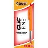 Bic: Clic Fine Tip Ballpoint Pens - Red (Box of 10)