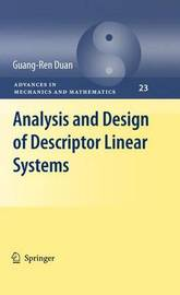 Analysis and Design of Descriptor Linear Systems by Guang-Ren Duan