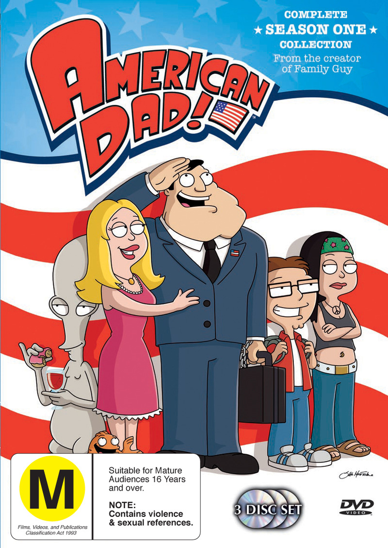 American Dad! - Season One (3 Disc) on DVD image
