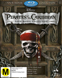 Pirates Of The Caribbean Boxset (1-4 Plus Bonus Disc) on Blu-ray image