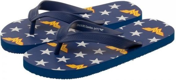 DC Comics: Wonder Woman Flip Flops (X-Small)