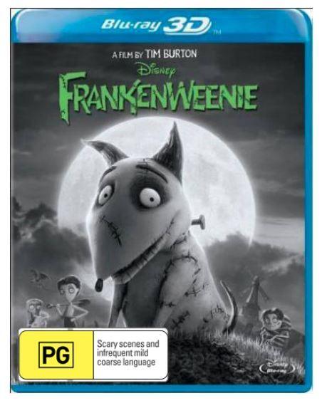 Frankenweenie 3D on Blu-ray, 3D Blu-ray