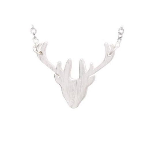 Katy B Jewellery: Stag Head Necklace - Silver