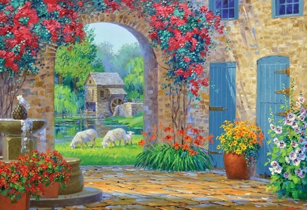 Holdson: 500pce Puzzles - Courtyards A Whisper of Serenity image