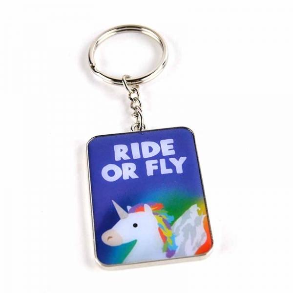 Ride Or Fly - Unicorn Keyring