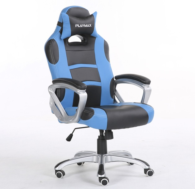 Playmax Gaming Chair Blue and Black for  sc 1 st  Mighty Ape & Playmax Gaming Chair Blue and Black | | On Sale Now | at Mighty Ape NZ