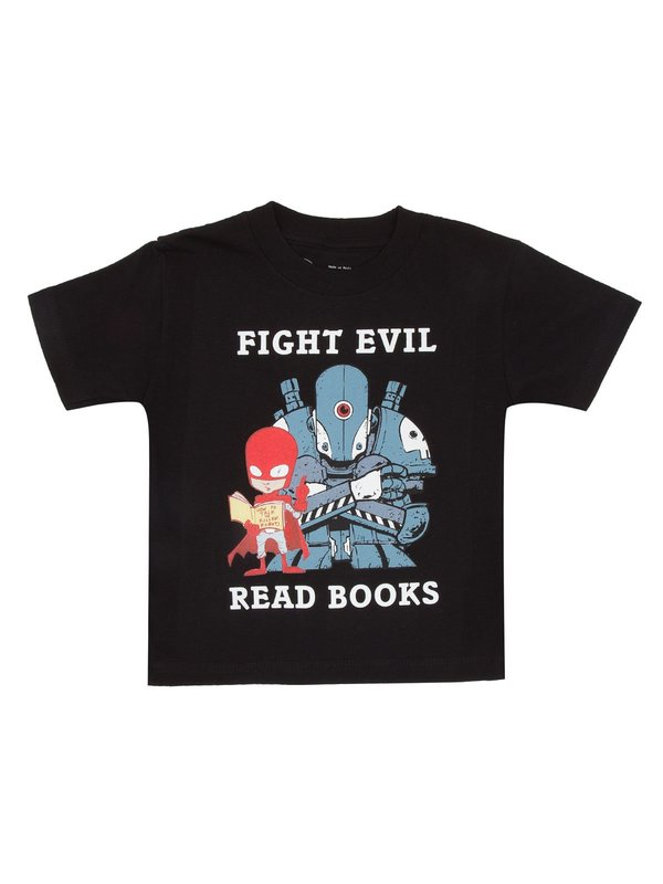 Out of Print: Fight Evil Read Books Childrens Tee - 6/7 yrs