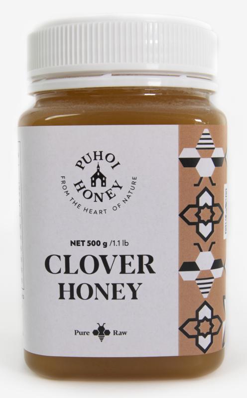 Puhoi Honey: Clover Honey - Pure & Raw (500g)