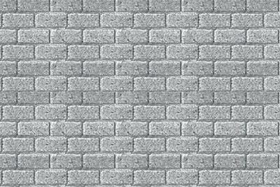 JTT Styrene Pattern Sheets Concrete Block (2pk) - H0 Scale image