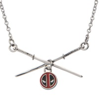 Deadpool Sword Logo Pendant Stainless Steel Necklace
