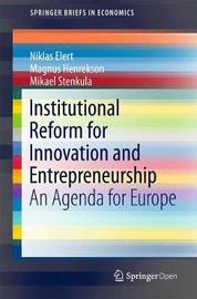 Institutional Reform for Innovation and Entrepreneurship by Niklas Elert image