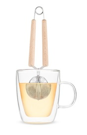 Pinky Up: Wood Handled - Simple Tea Infuser image