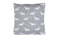 Emily Bond Knit Cushion - Grey Dachshunds