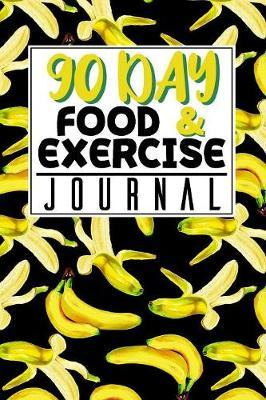 90 Day Food and Exercise Journal Banana Pattern by The Yellow Brush image