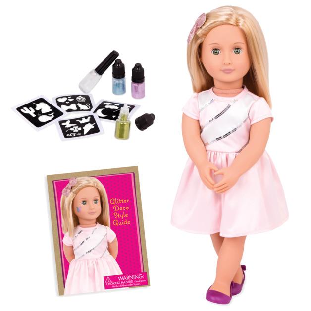 "Our Generation: 18"" Deco Doll - Glitter Tattoo Rosalyn"