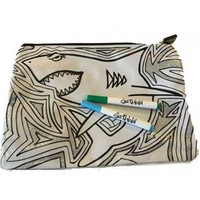 Scribbla: Pencil Case & Fabric Pen Set - Shark