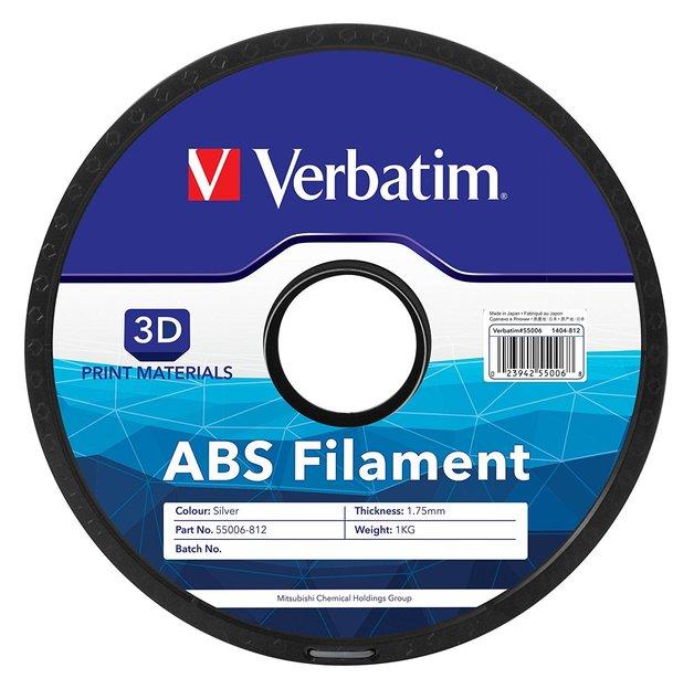 Verbatim 3D Printer ABS 1.75mm Filament - 1kg Reel (Silver)