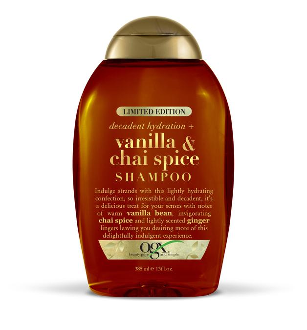 OGX Vanilla & Chai Spice Shampoo (385ml) | at Mighty Ape