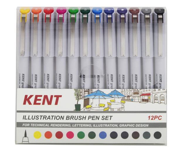 Kent: Graphic Illustration Brush Pen (Set of 12)