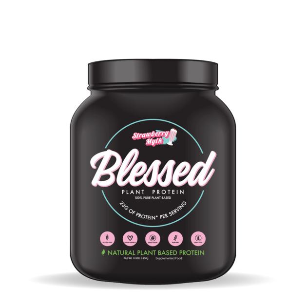 Blessed Plant-Based Protein Powder 450g - Strawberry Mylk (15 Serves)