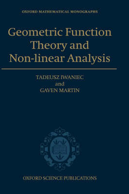 Geometric Function Theory and Non-linear Analysis by Tadeusz Iwaniec image