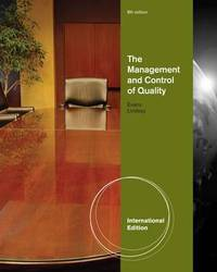 The Management and Control of Quality by James Evans image