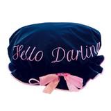 Bombay Duck: Hello Darling Shower Cap - Black/Pale Pink