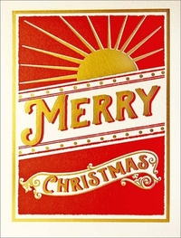Archivist Merry Christmas Sunburt Christmas Card