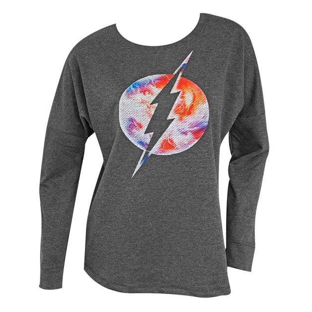 DC Comics: Flash Logo - Drop Shoulder Pullover (Small)