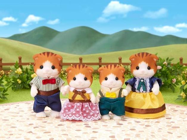 Sylvanian Families: Maple Cat Family - 4 Pack