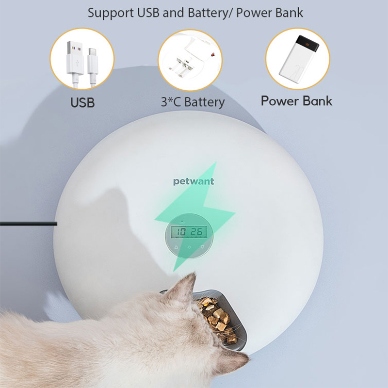 Smart Automatic Pet Feeder 6-Grid (180ml) image