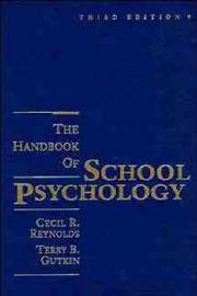 Handbook of School Psychology by Cecil R Reynolds image